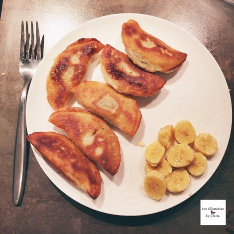 Raviolis au Nutella et à la banane